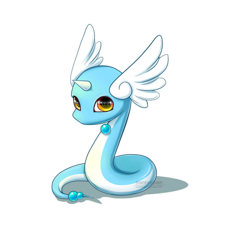 Thoughts drawing cute. Baby pokemon dragonair by
