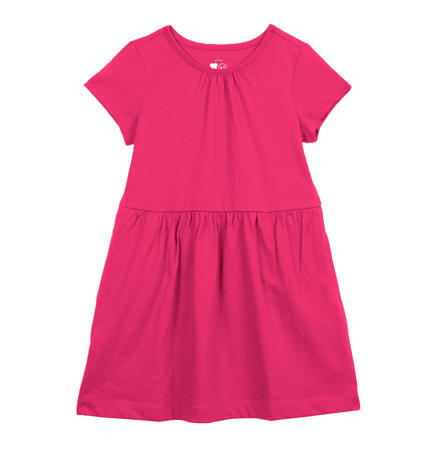 Baby dress png. Kids short sleeve solid