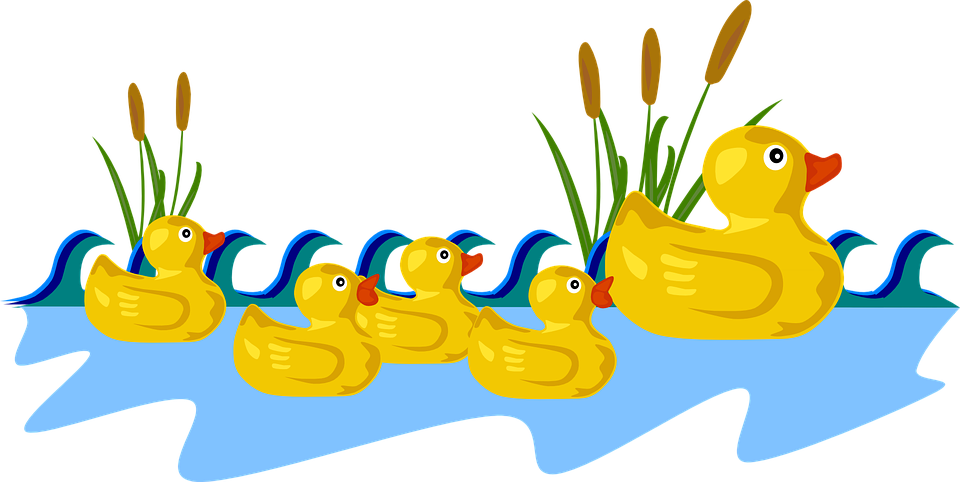 Free ducks in a. Baby duck clipart png jpg royalty free library