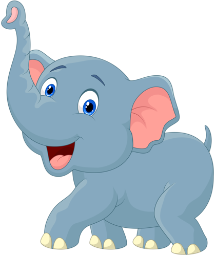 Baby elephant clipart png. Cartoon vector lil zoo