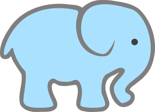 Clipart outline free images. Elephant clip art baby elephant svg free library