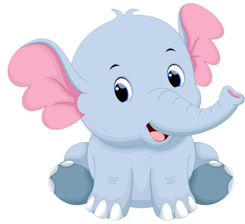 Baby elephant png. Cartoon vector