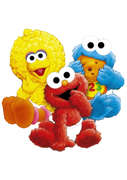 sesame street babies invitations backgrounds png