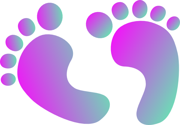 Baby feet png transparent. Two tone purple clip