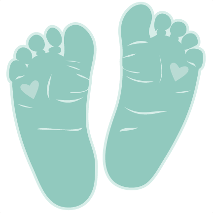Baby feet png transparent. Svg scrapbook cut file