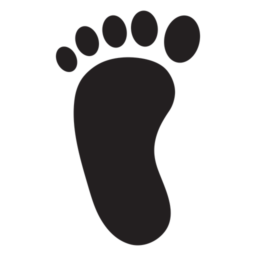 Baby footprint vector png. Left foot silhouette transparent