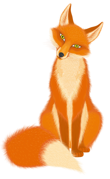 Fox cartoon png. Transparent picture animals clipart