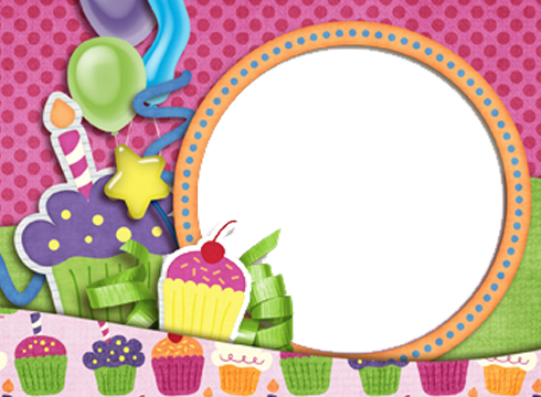 Birthday frame png. Collage transparent images all
