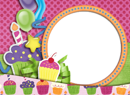 Birthday photo frame png. Free frames download clip