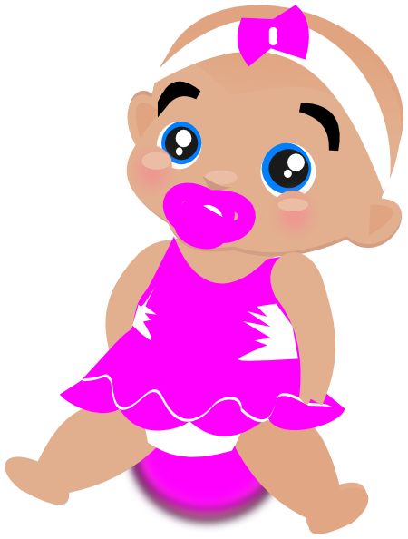 Baby girl clipart png. Pink transparentpng