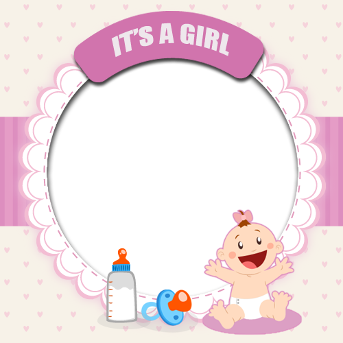 Baby girl frame png. Its a cute photo