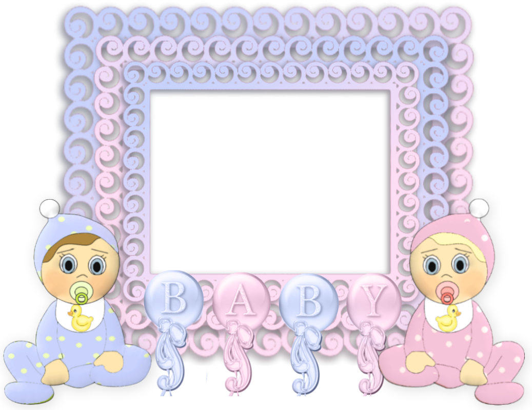Baby girl frame png. Transparent pink and blue