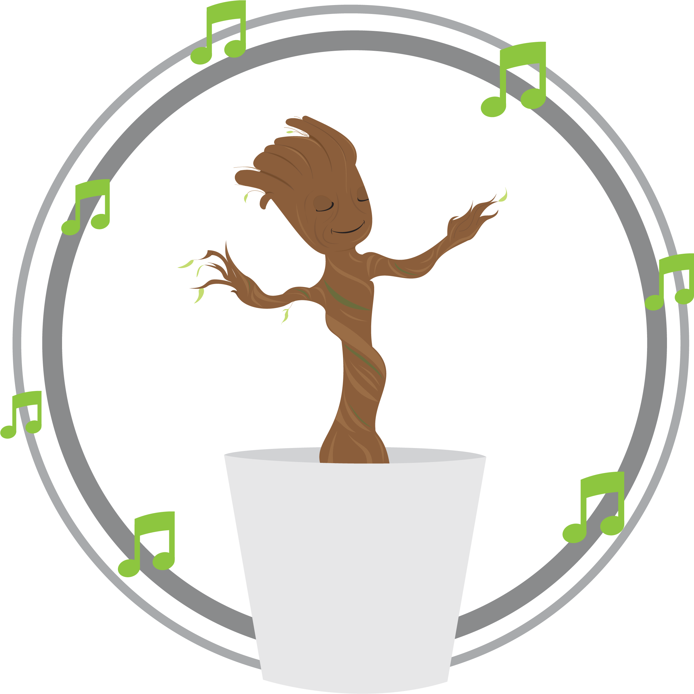 Groot transparent dancing. Download baby dance png