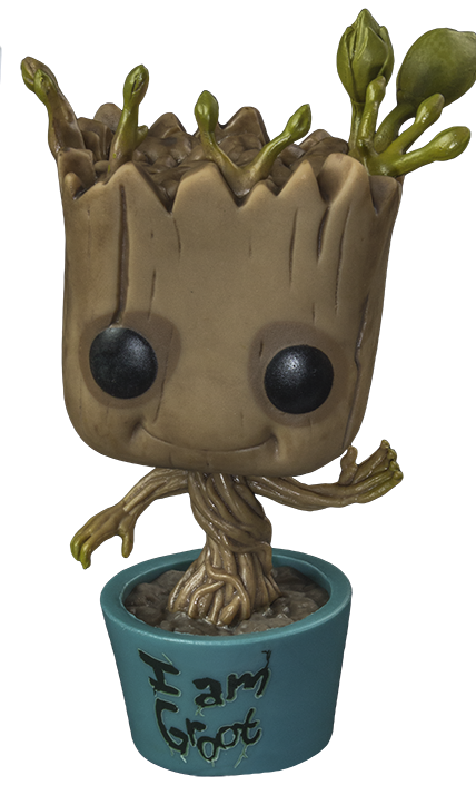 Groot transparent dancing. Funko i am pop