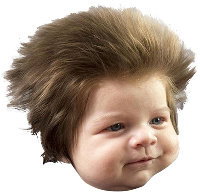 Baby hair png. Psbattle month old with