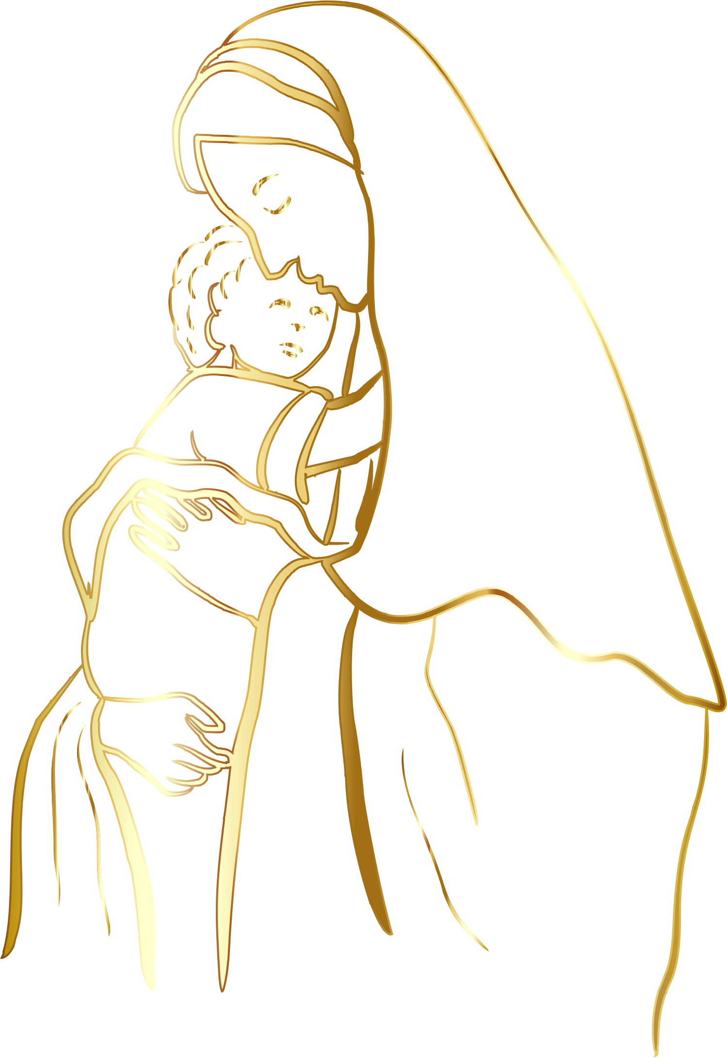 Baby jesus png. Gold virgin mary and