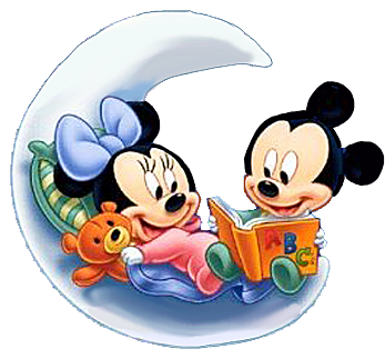 Baby mickey and minnie mouse png. Read on moon clips