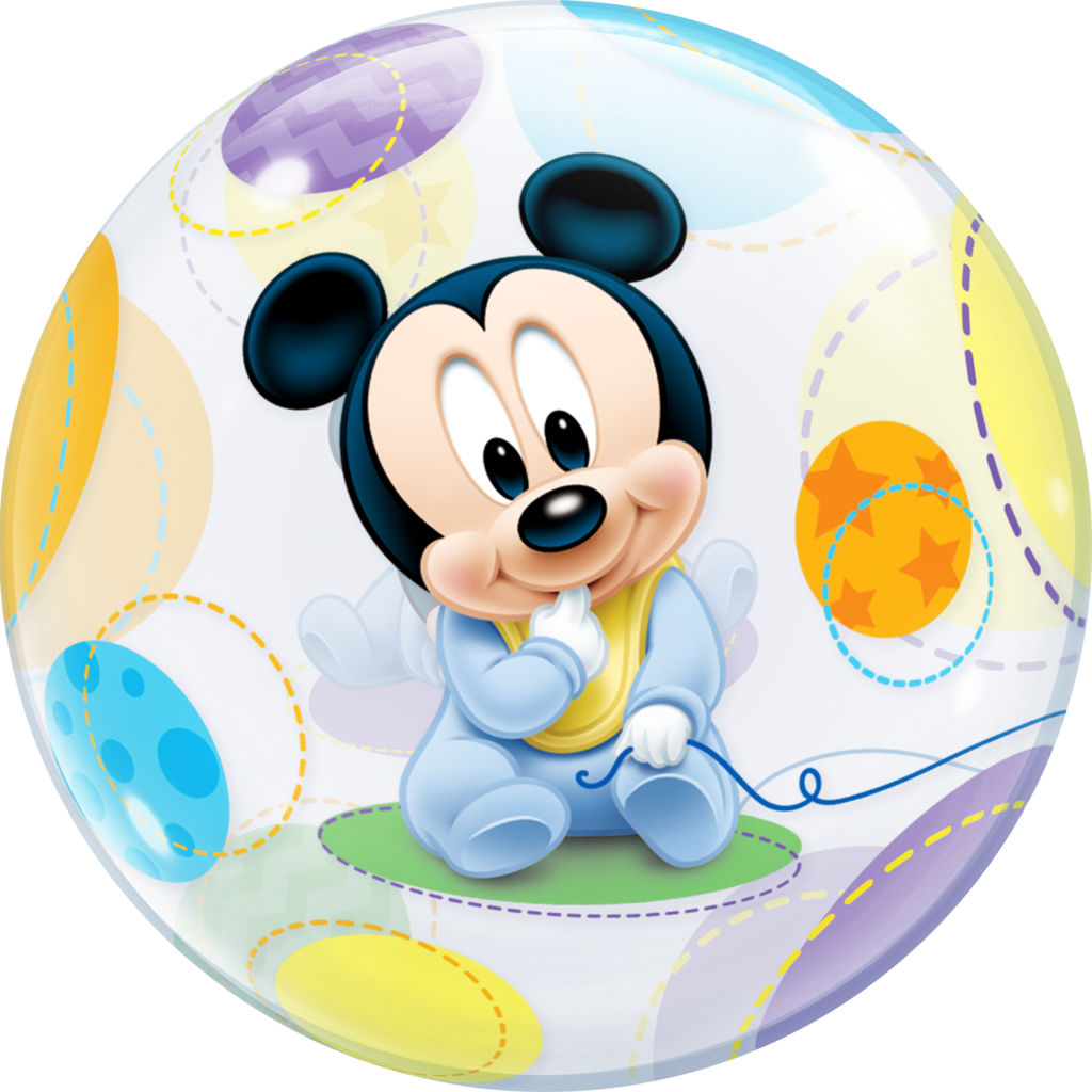 Baby mickey mouse png. Disney bubble balloon qualatex