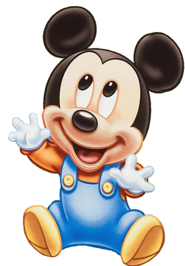 Mickey bebe png. Baby reach manualid mais
