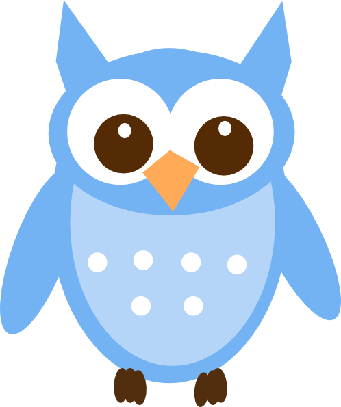 Baby owl png. Blue clip art at
