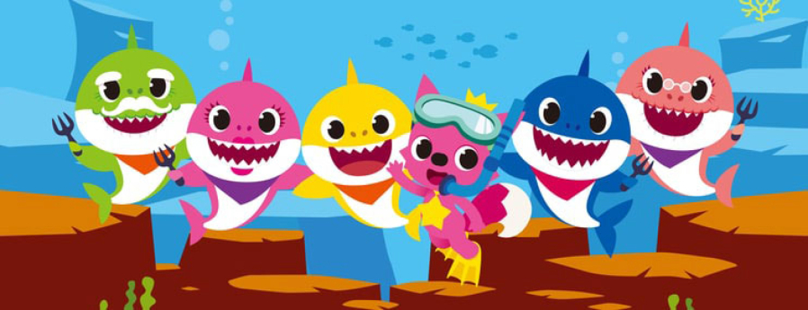 Baby shark png character. The story of global
