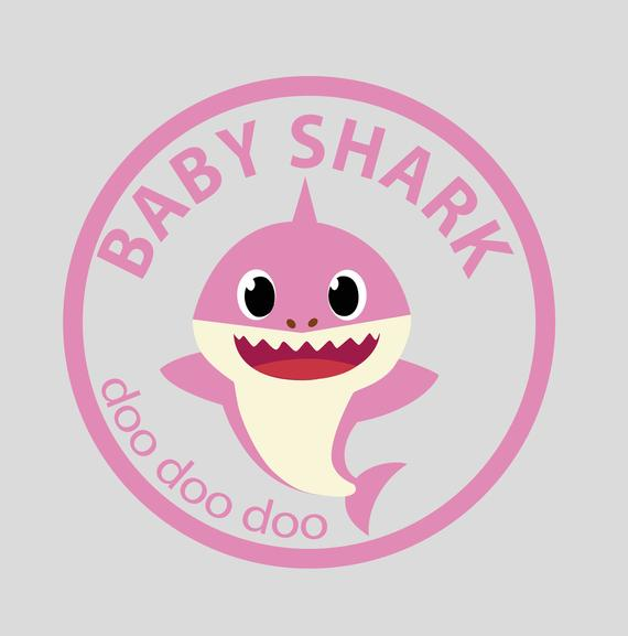 Baby shark png pink. Design jpg svg and