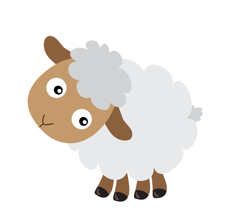 Baby sheep png. Black livestock transprent free