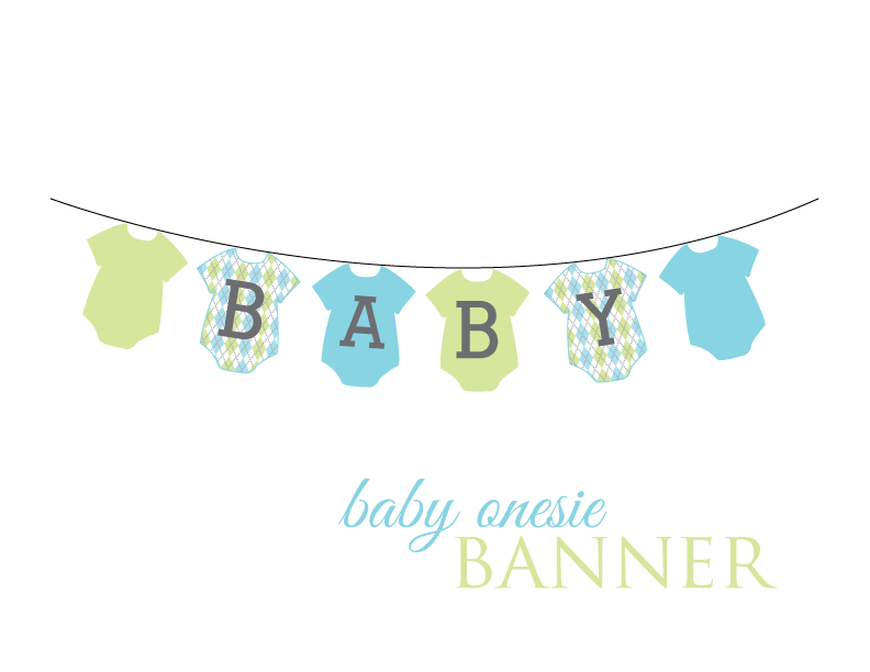 Baby shower banner png. Short stop designs onesie