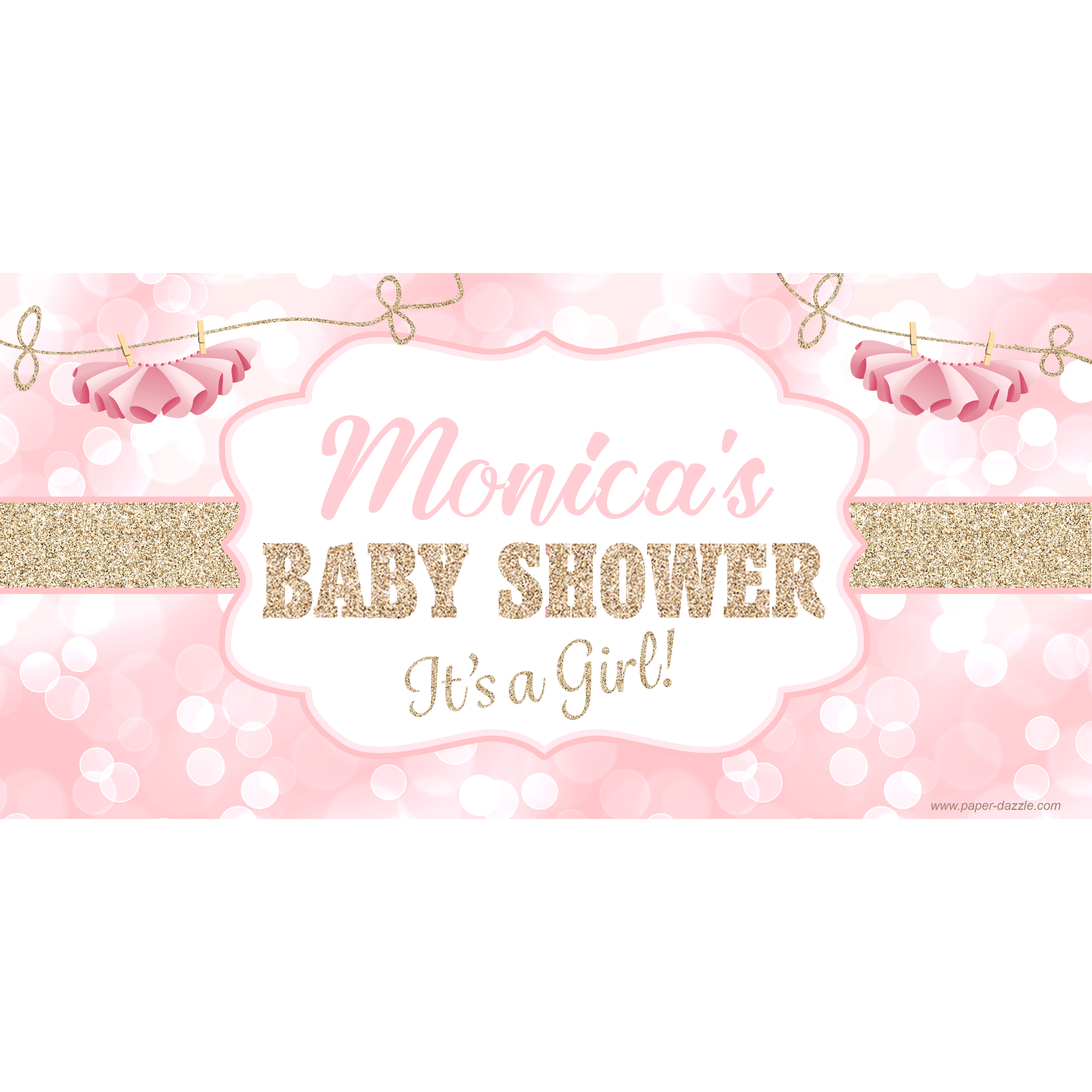 Baby shower banner png. Tutu sparkle