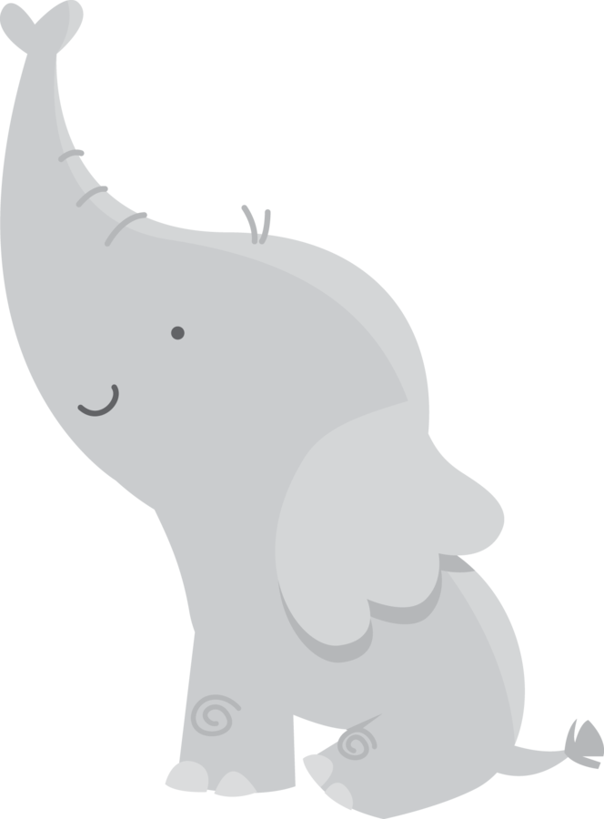 Baby shower elephant png. Minus say hello munecos