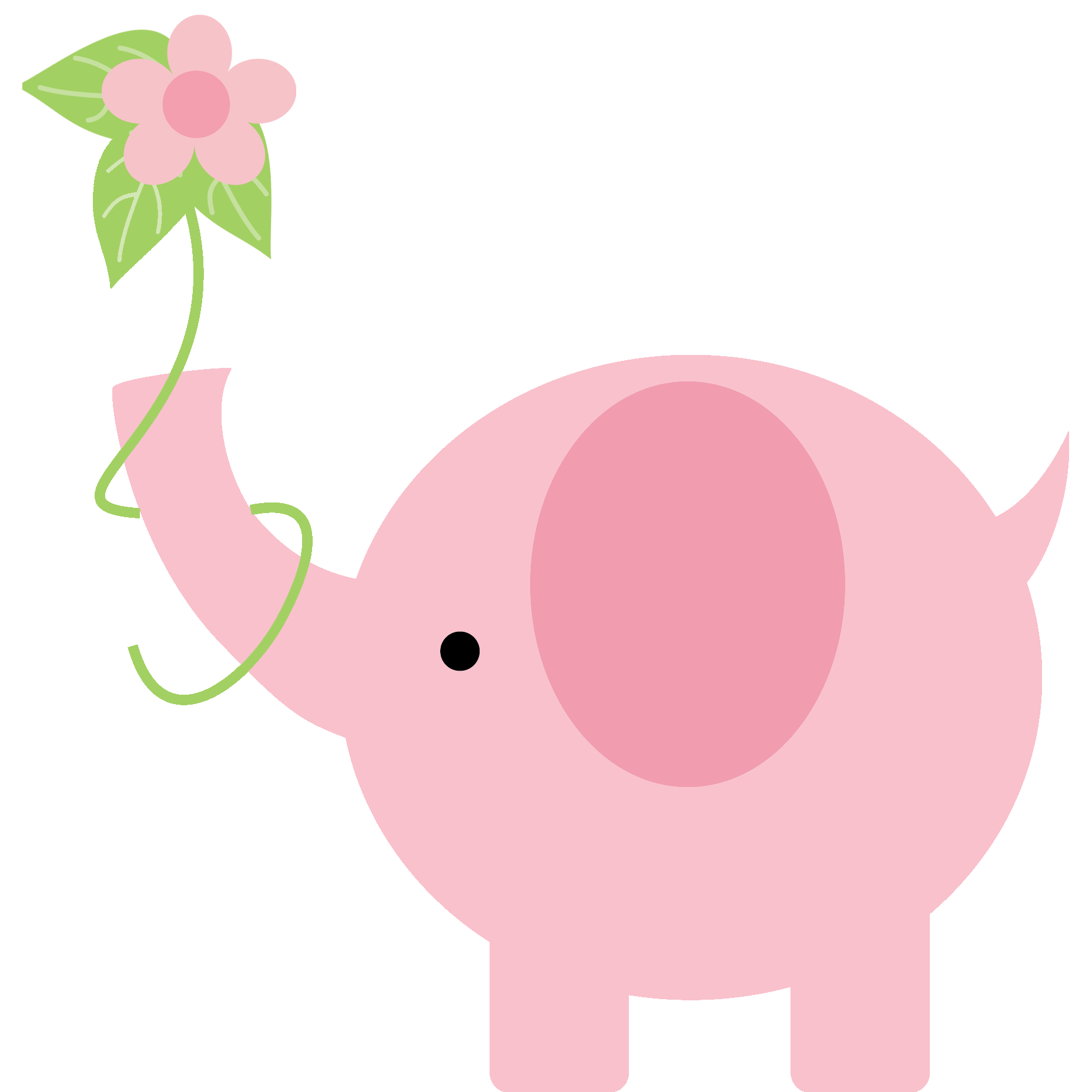 Baby shower elephant png. Pink clip art videos