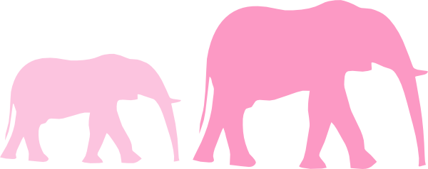 Baby shower elephant png. Pink mom and clip