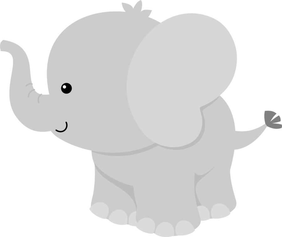 Baby shower elephant png. Free clip art from