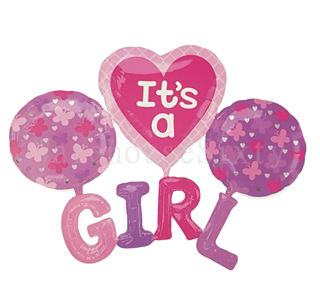 Baby shower girl png. Its a foil balloon