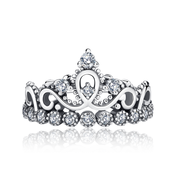silver princess crown png