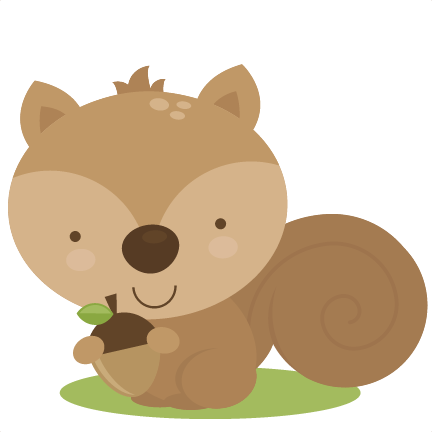 Baby squirrel png. Cute svg cut file