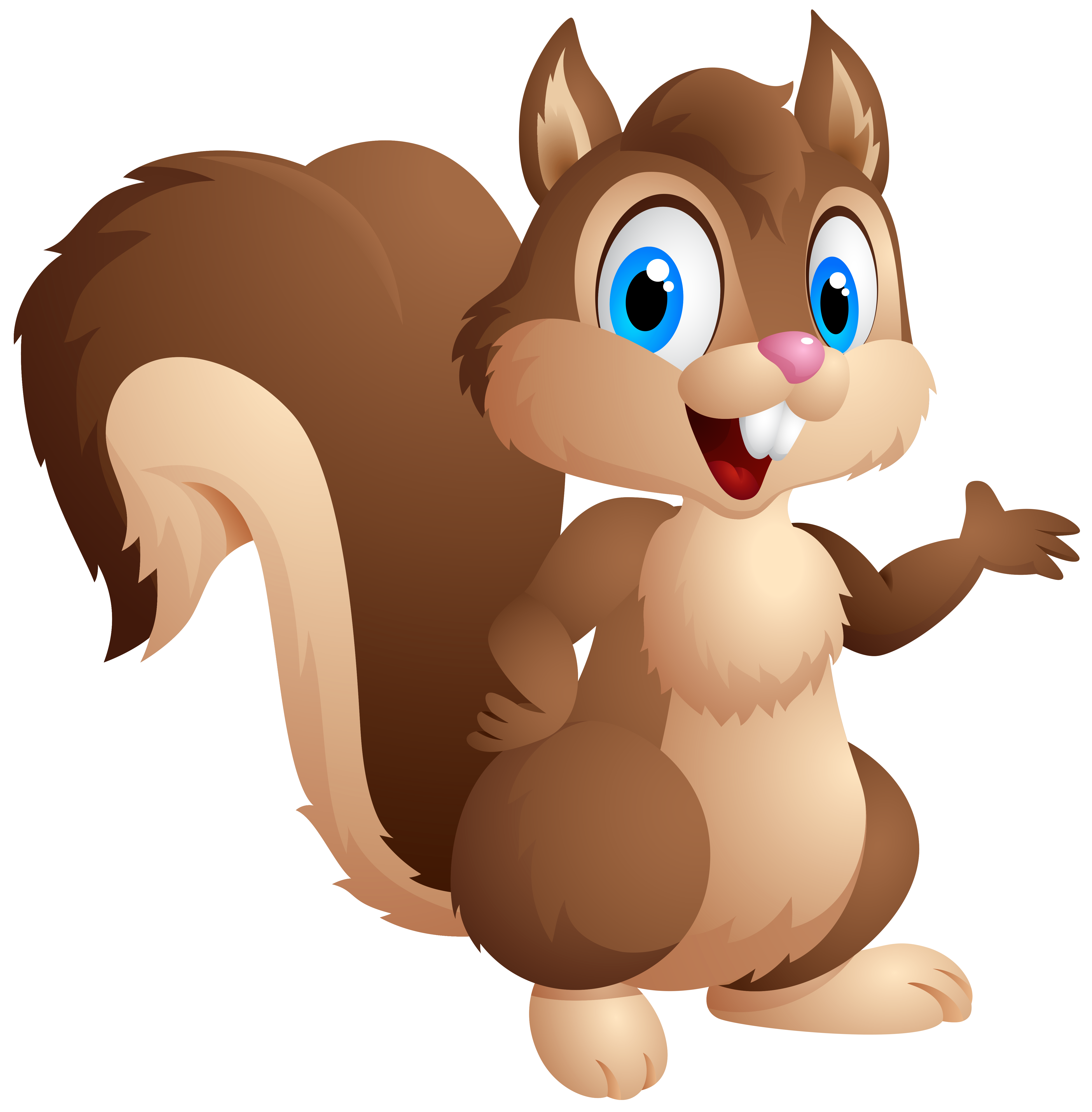 Baby squirrel png. Cute cartoon clipart image