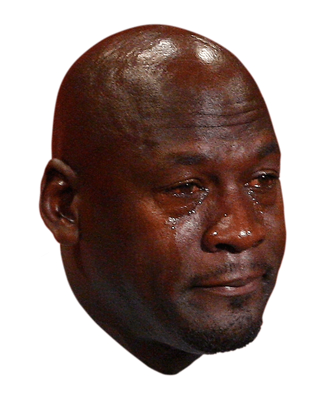 Baby success meme png. Michael jordan crying face