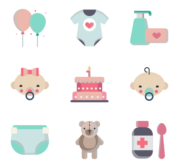Rudolph vector cute baby. Toy icon packs