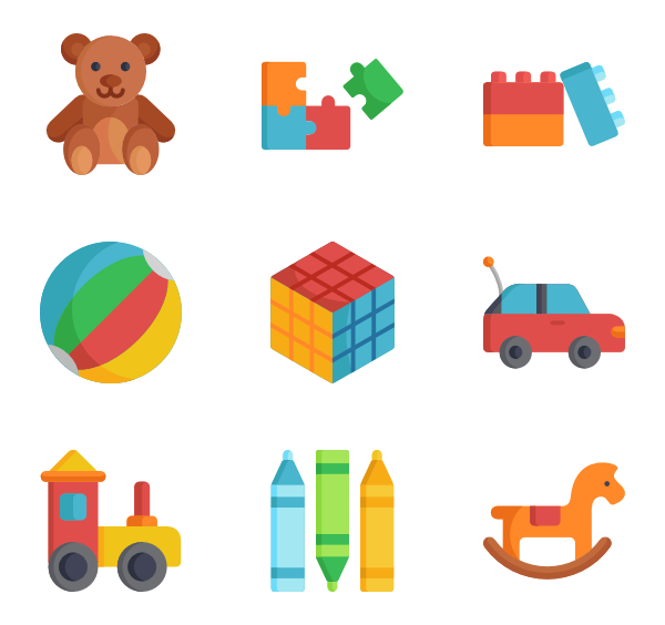 Baby toys png. Toy icon packs