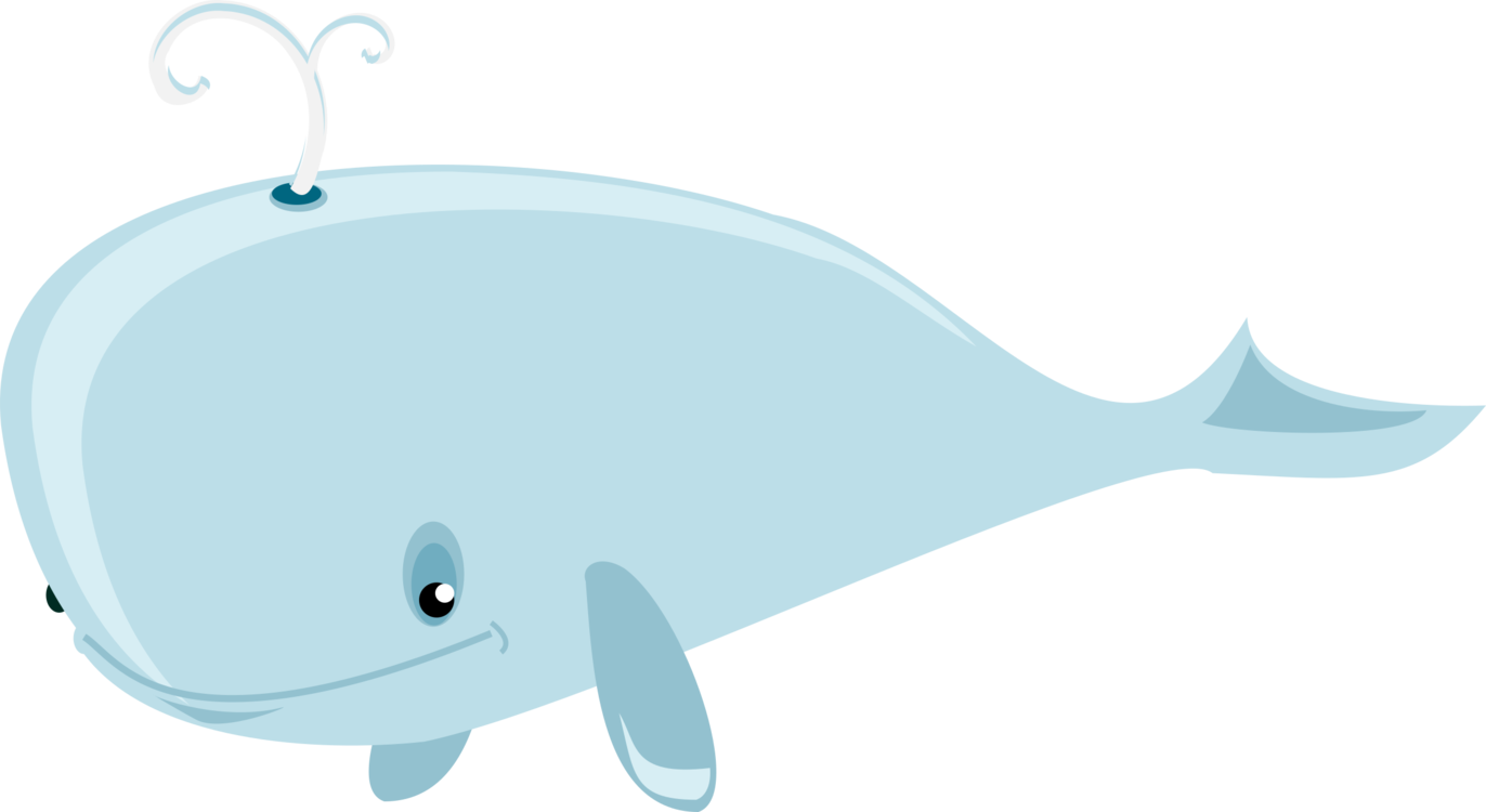 Transparent whale free cartoon. Blue baby drawing humpback