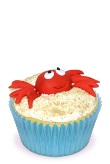 Sand crab cupcakes for.  free stock