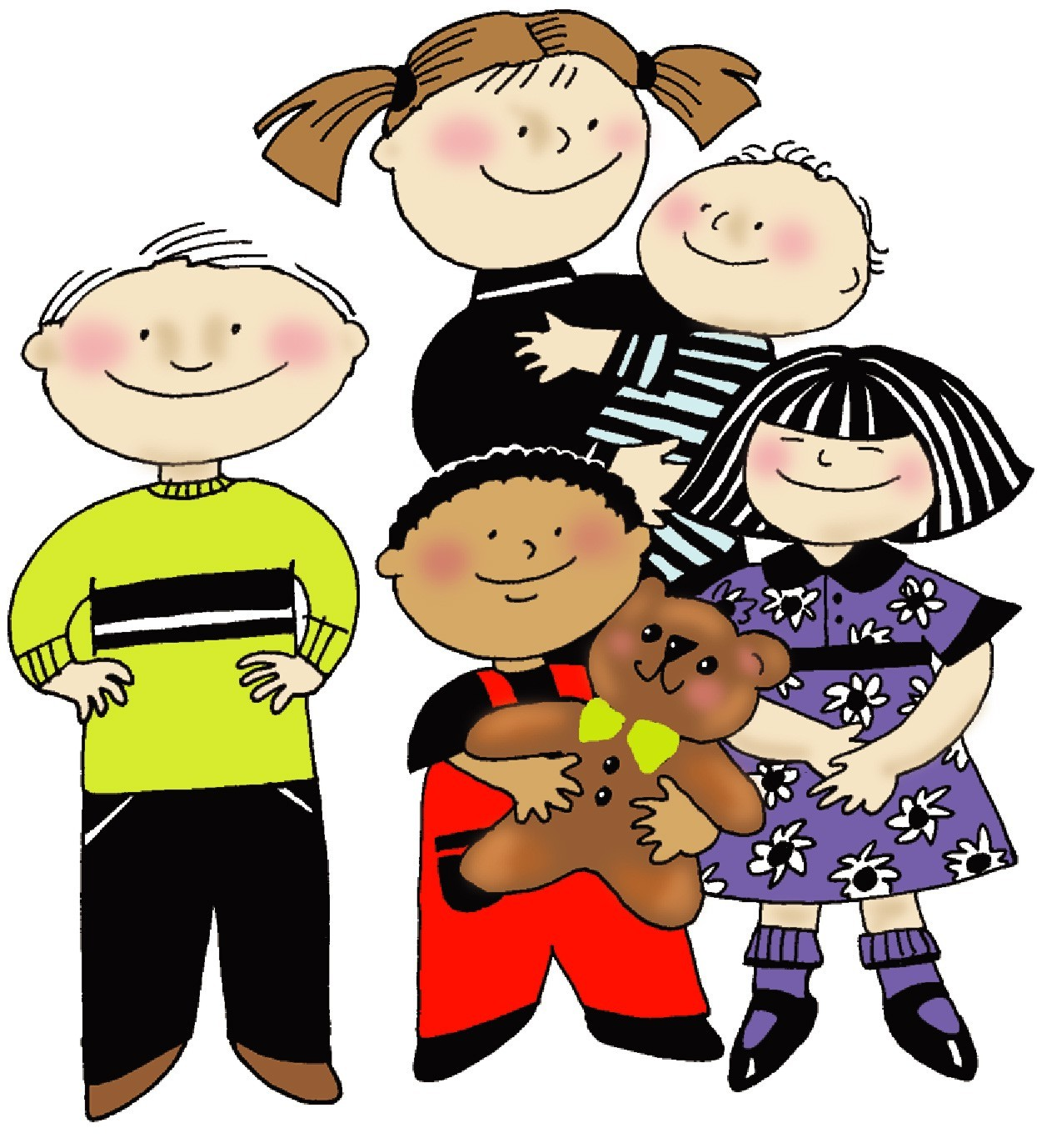 babysitting clipart group child