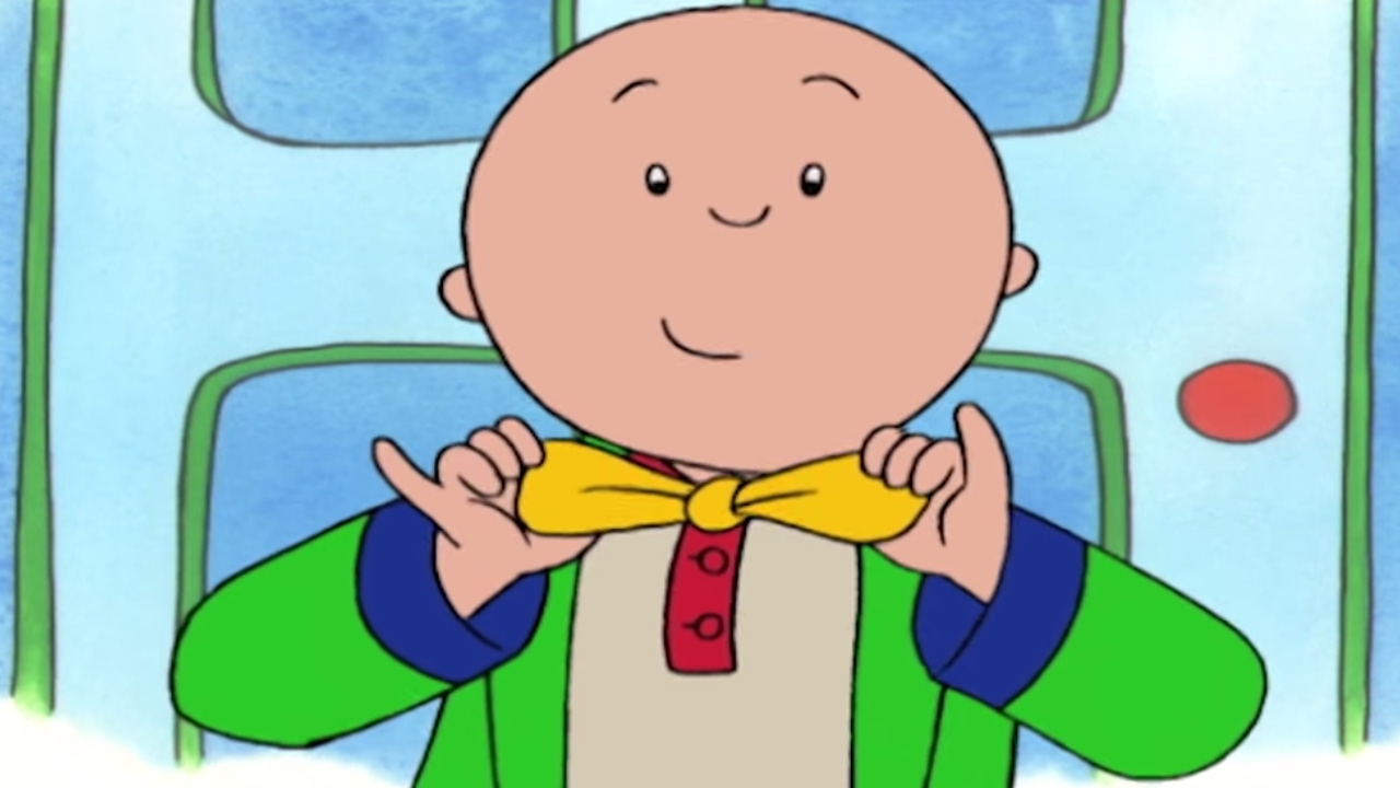 Babysitting clipart old child. Funny animated cartoon caillou