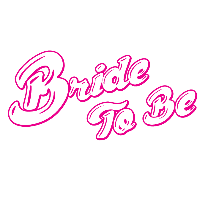 Bachelorette party png. Pink bride to be