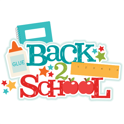 Transparent files school. Back title svg scrapbook