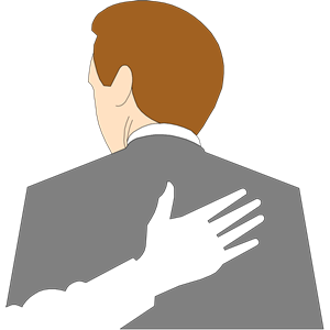 Clip art pat on. Back clipart image freeuse library