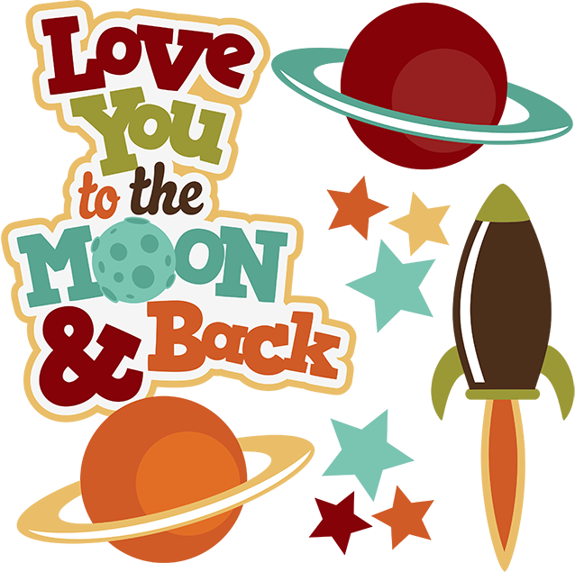 Back clipart. Moon and