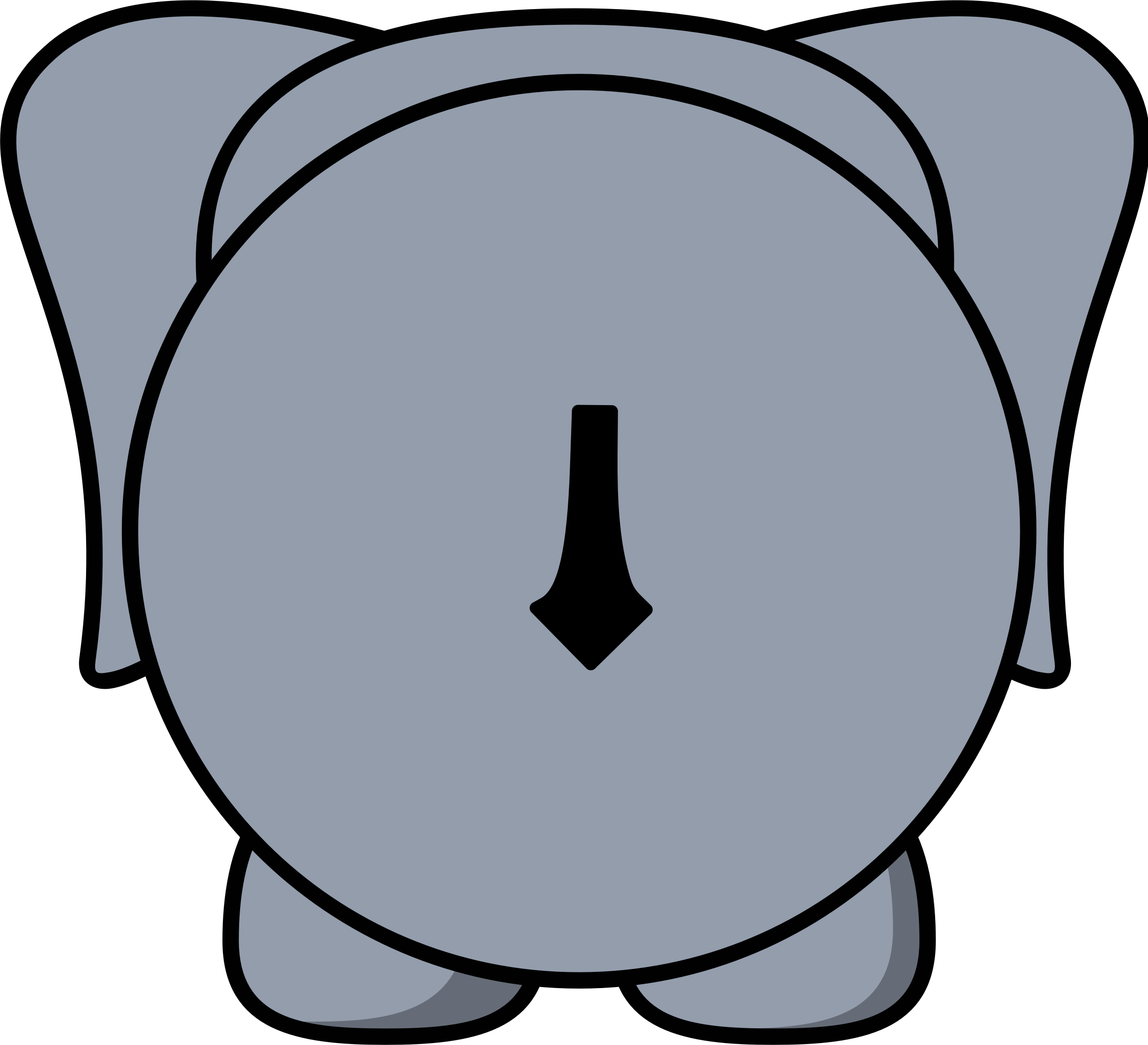 Back clipart back side. Elephant icons png free
