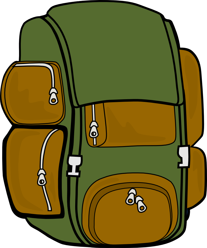 Hiking clipart camping. Free back pack cliparts